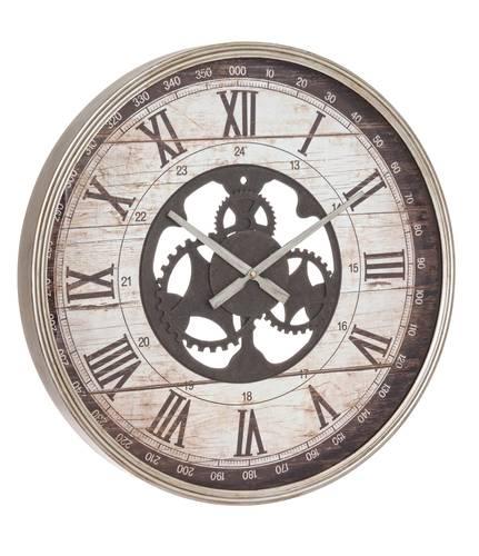 Orologio argento metallo con ingranaggi da parete cm60