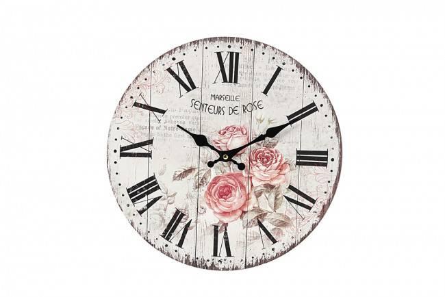 Orologio legno Senteur de rose 34cm