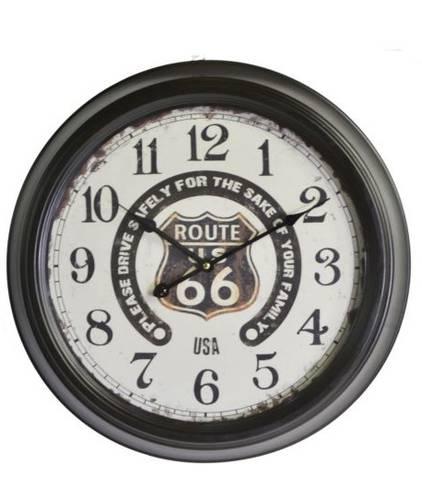 Orologio metallo nero Route 66 scritte nere