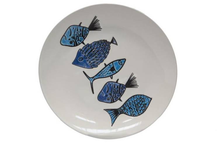 Piatto dessert pesci azzurri