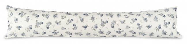 Paraspifferi bianco roselline blu 120cm