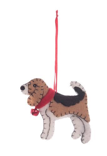 Pendaglio cane beagle in feltro