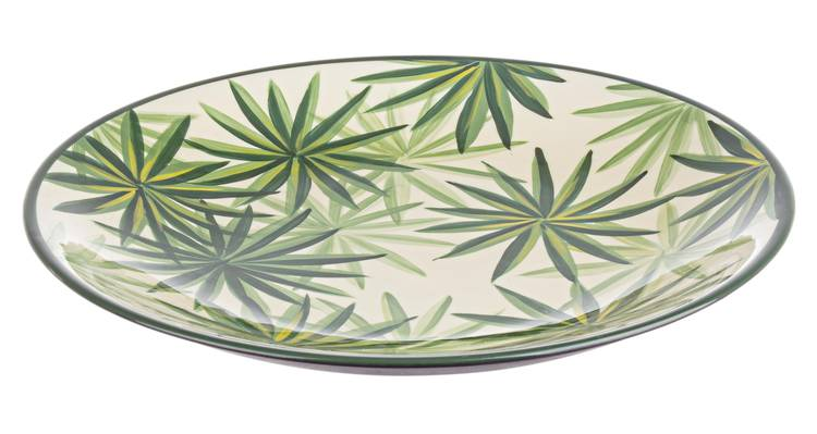 Centrotavola porcellana tropicale verde