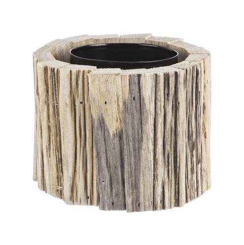Portacendele tondo legno rustico