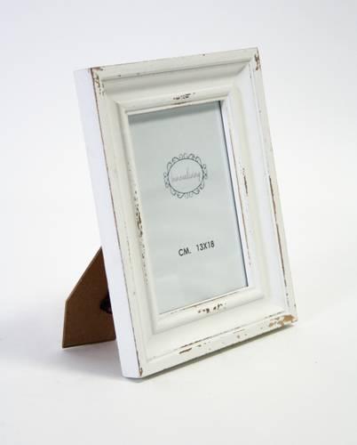 Portafoto legno bianco anticato shabby 13x18