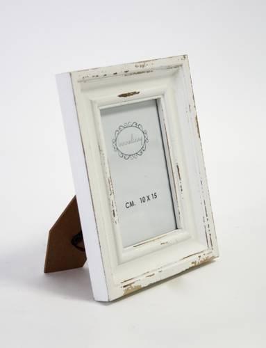 Portafoto legno bianco anticato shabby 10x15