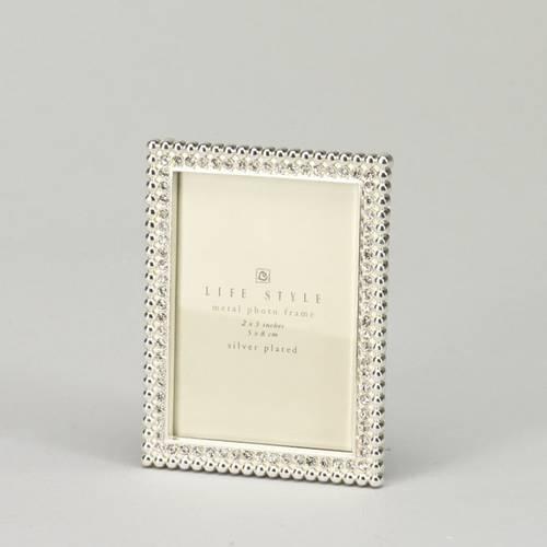 Portafoto silver con swarosky 6x9
