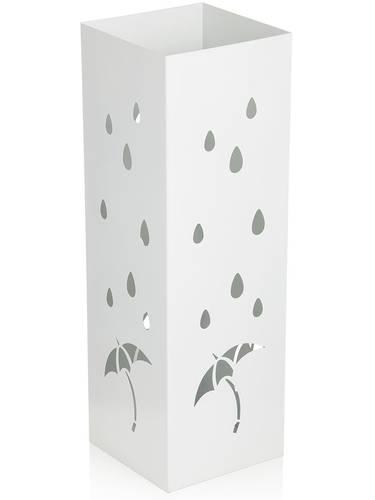 Portaombrelli metallo bianco quadrato disegno ombrello