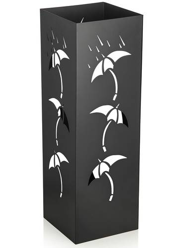 Portaombrelli metallo nero quadrato disegno ombrelli