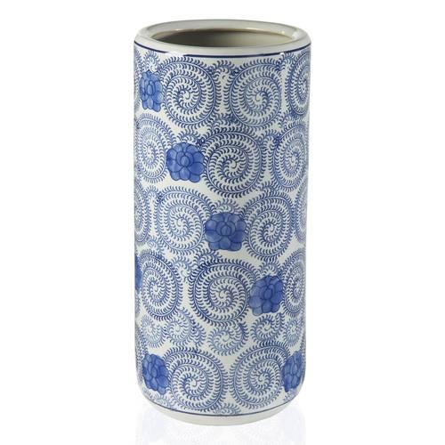Portaombrelli porcellana spirali blu