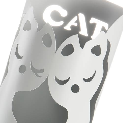 Portaombrelli gatti metallo grigio tondo