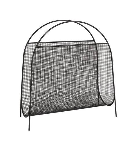 Portariviste metallo rete nera con maniglie