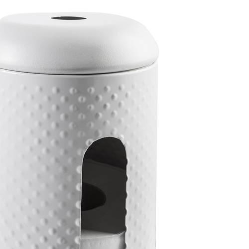 Portarotoli carta igienica dotty cilindro metallo bianco