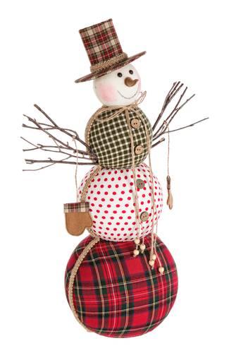 Pupazzo natalizio patch tessuto 56h