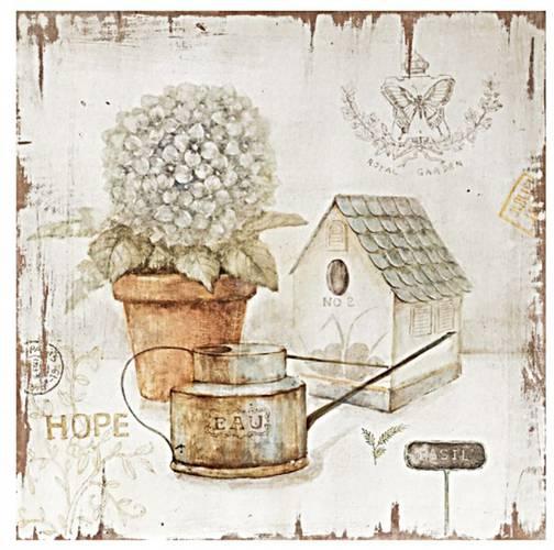 Quadro dipinto fiori bianchi Hope 40x40