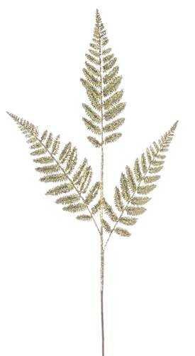 Ramo felce foglie oro glitterate 77,5h