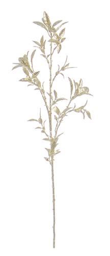 Ramo foglie oro glitterate 92,5h