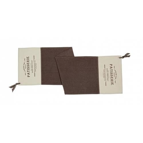 Runner cotone marrone chocolat