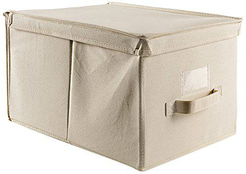 Scatola armadio cotone bianco 30x40x25