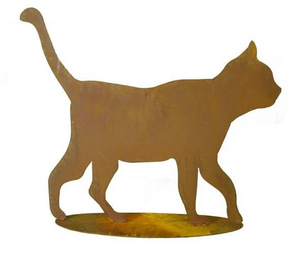 Sagoma gatto ferro ruggine da giardino