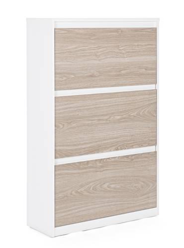 Scarpiera legno bianco 3 ante frassino