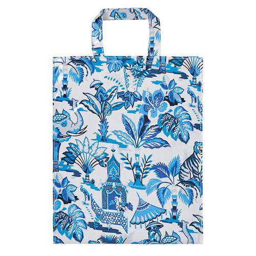 Shopping bag Indian blue pvc large Ulster Weavers