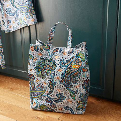 Shopping bag fiori Italian Paisley pvc large Ulster Weavers