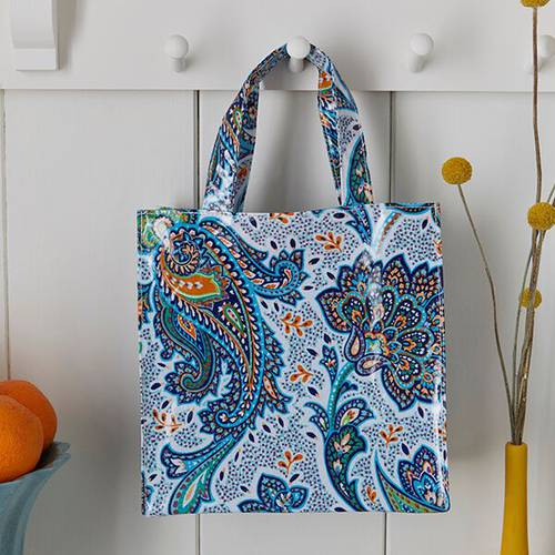 Shopping bag fiori Italian Paisley pvc small Ulster Weavers