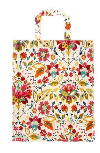 Shopping bag fiori colorati pvc large Ulster Weavers