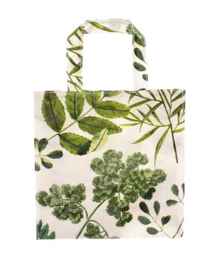 Shopping bag foglie verdi pvc small