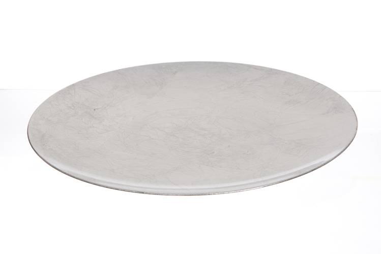 Sottopiatto argento liscio 33cm
