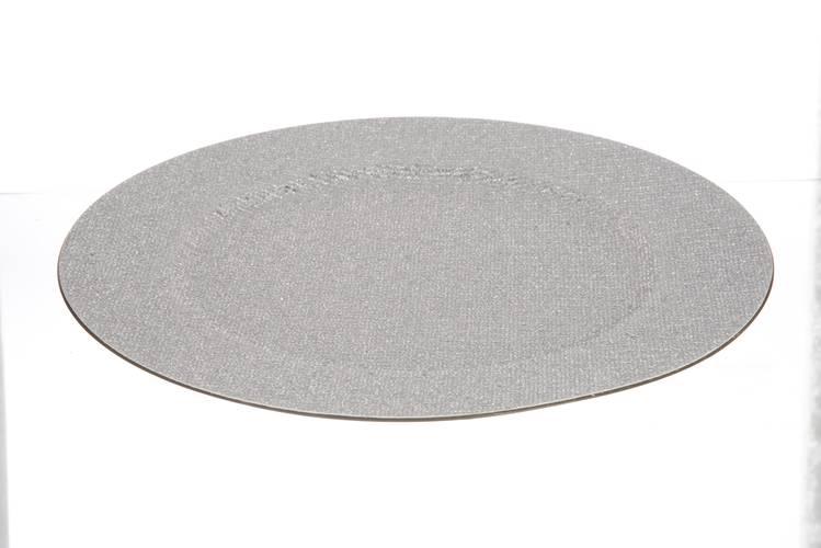 Sottopiatto glitter argento 33cm