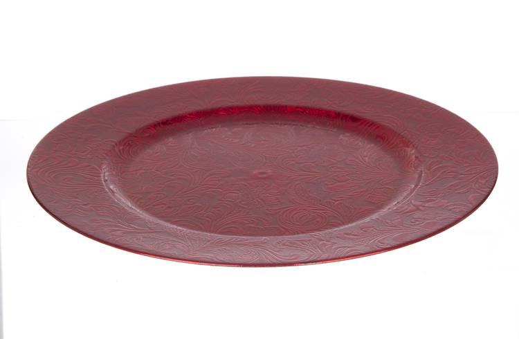 Sottopiatto prezioso rosso 33cm