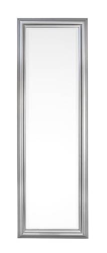 Specchio argento cornice liscia legno 42x132h