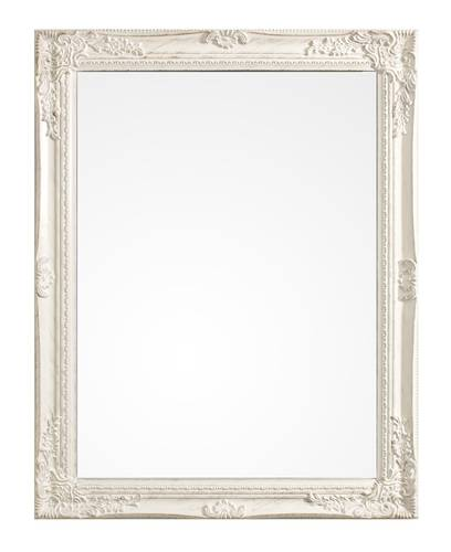Specchio barocco legno bianco  62x82