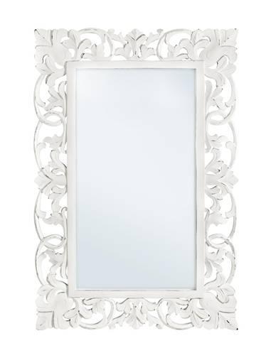 Specchio intarsi legno bianco 45x60