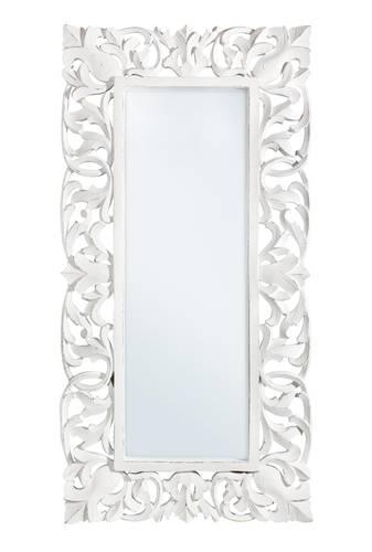 Specchio intarsi legno bianco 60x120
