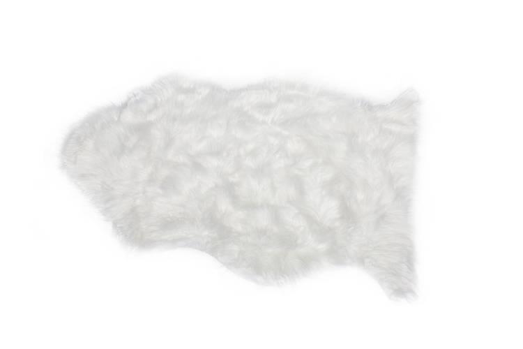 Tappeto ecopelliccia bianca 60x90