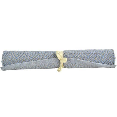 Tappeto cotone spigato azzurro 50x90