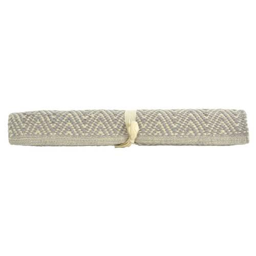 Tappeto cotone spigato grigio 50x150