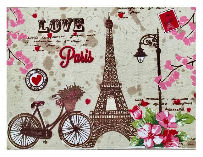 Tappeto cotone stampa Paris tour eifelle 60x90