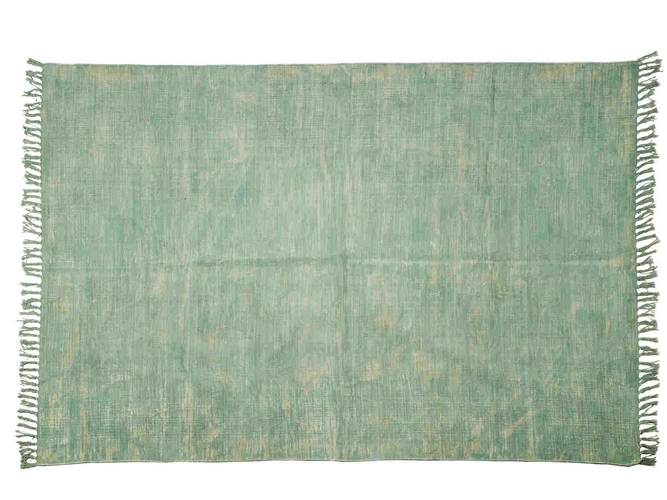 Tappeto cotone turchese effetto vintage 140x200