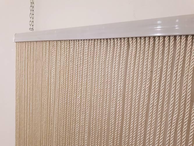 Tenda da porta cordoncino twist avorio