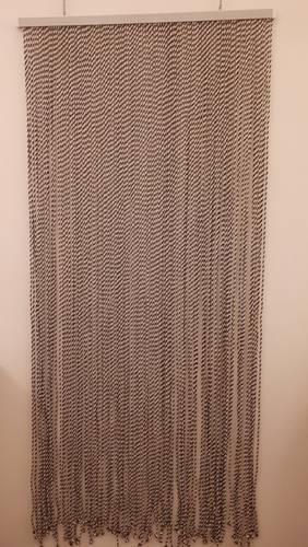 Tenda da porta cordoncino twist marrone 120x240