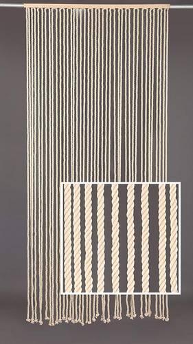 Tenda da porta corda cotone naturale asta legno 100x220