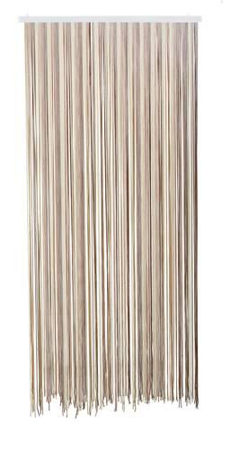 Tenda porta tricot fili beige100x220h