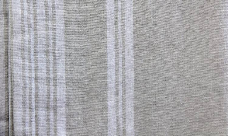 Tovaglia lino naturale riga bianca 170x300