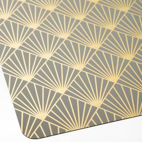 Tovaglietta americana grigia pvc geometrie oro