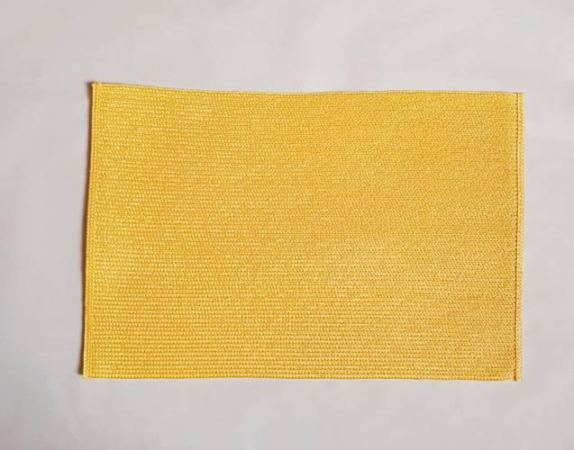 Tovaglietta americana rafia sintetica colore giallo
