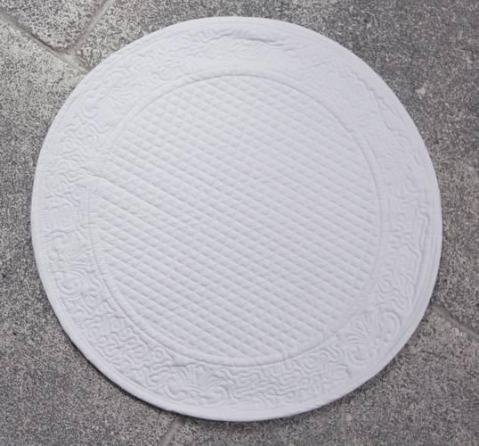 Tovaglietta americana tonda cotone bianco trapuntato